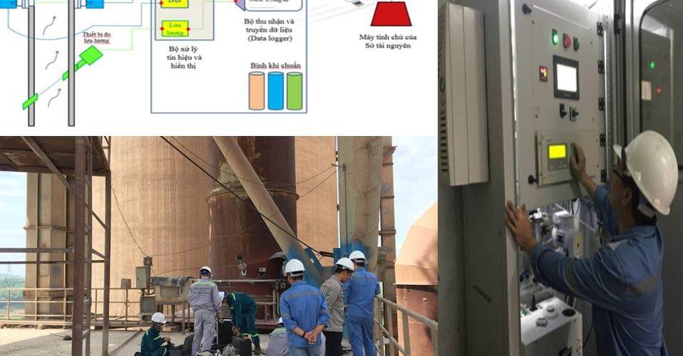 Dự án: Xây dựng hệ thống quan trắc khí thải ống khói lò nung xi măng Yên Bình
